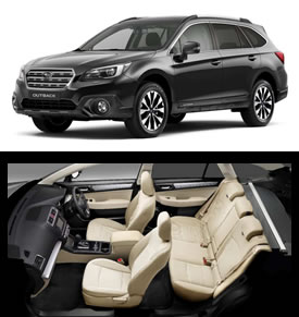 2017 Outback in Crystal Black Silica and Ivory Leather interior